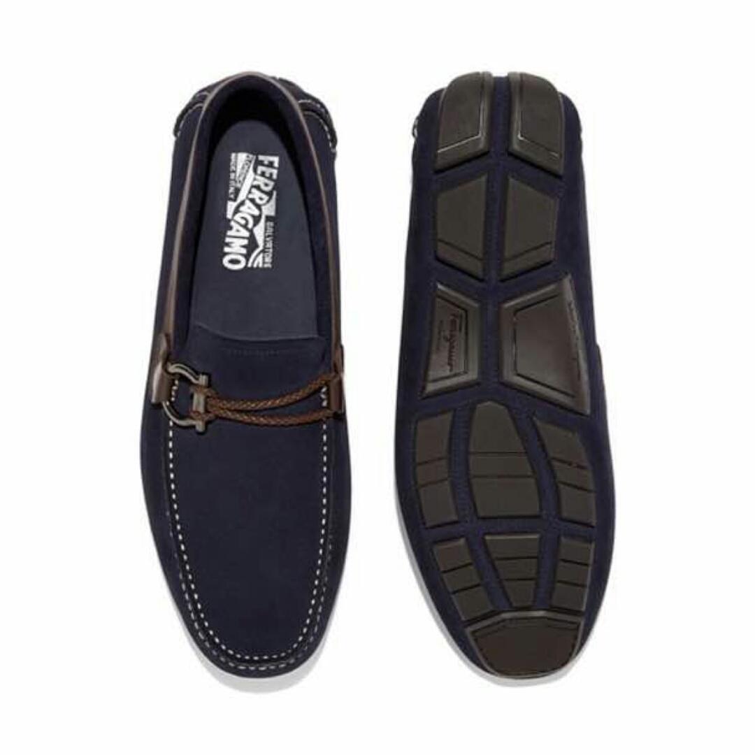 c9e69d34f3c9e Ferragamo Navy Blue Loafers – Nkatah Stores